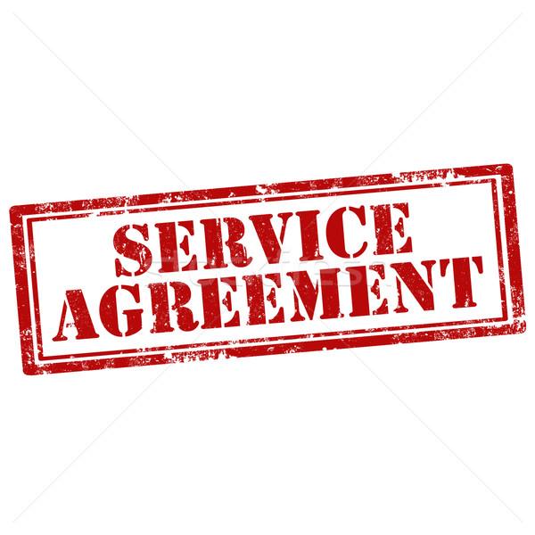 Szolgáltatás megállapodás grunge pecsét szöveg üzlet Stock fotó © carmen2011