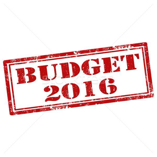 Foto stock: Orçamento · grunge · texto · borracha · ícone