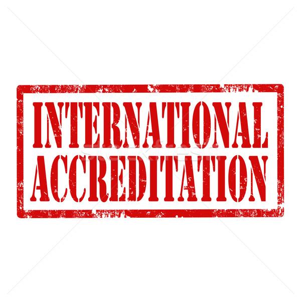 International Accreditation-stamp Stock photo © carmen2011