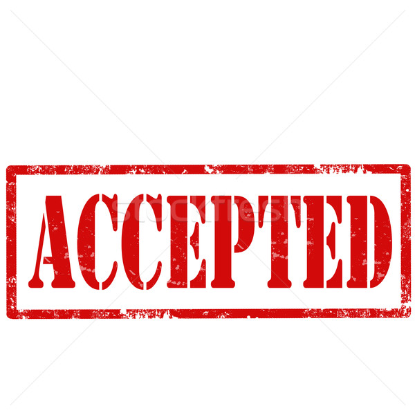 Accepted-stamp Stock photo © carmen2011