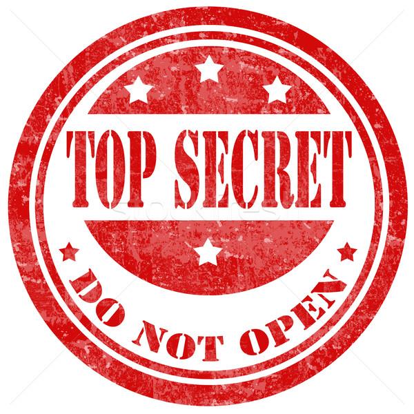 Top Secret-stamp Stock photo © carmen2011