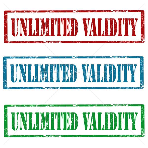 Zestaw znaczków grunge gumy tekst nieograniczony Zdjęcia stock © carmen2011