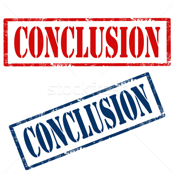 Conclusion-stamps Stock photo © carmen2011
