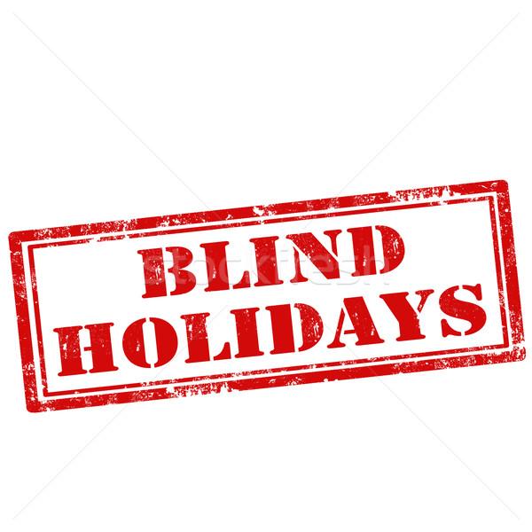 слепых праздников Гранж текста знак Сток-фото © carmen2011