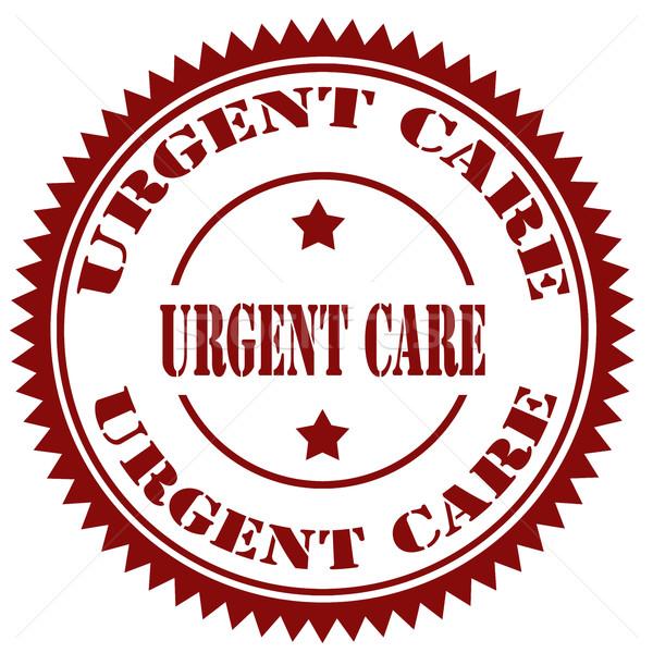 Foto d'archivio: Urgente · timbro · testo · segno · infermiera · care