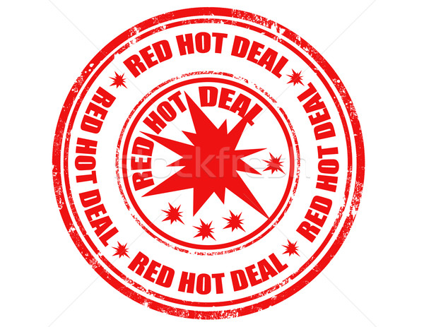 Red hot deal-stamp Stock photo © carmen2011