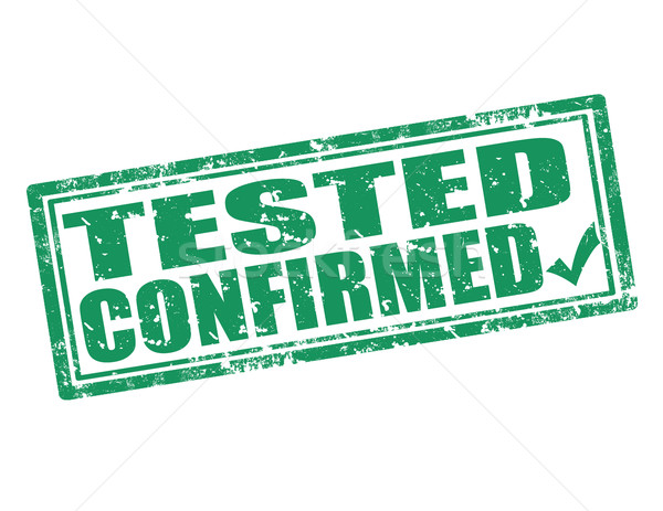 Tested confirmed-stamp Stock photo © carmen2011