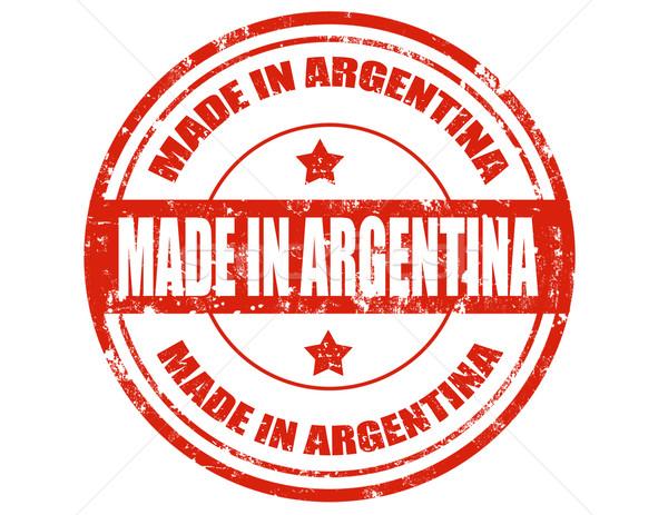 Argentína grunge pecsét szöveg üzlet háttér Stock fotó © carmen2011