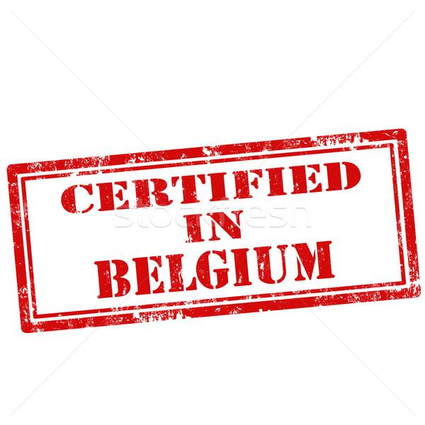 Certificado grunge texto borracha comércio Foto stock © carmen2011