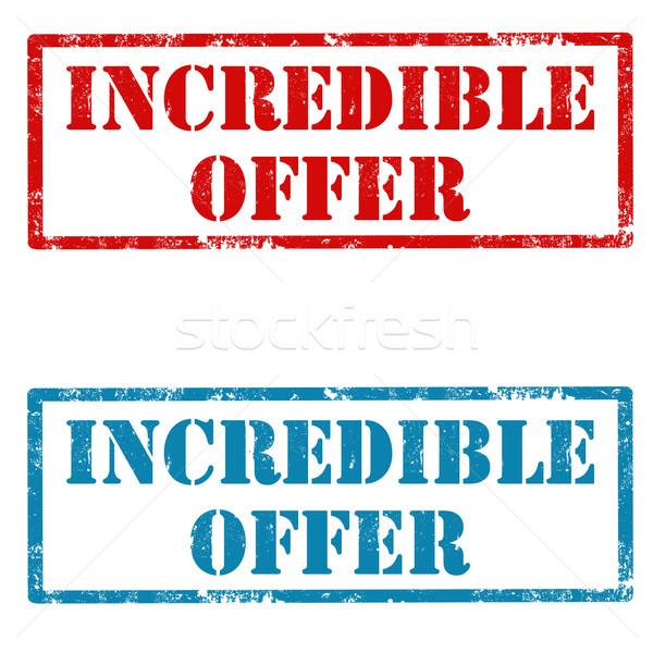 Hihetetlen ajánlat szett grunge pecsét szöveg Stock fotó © carmen2011