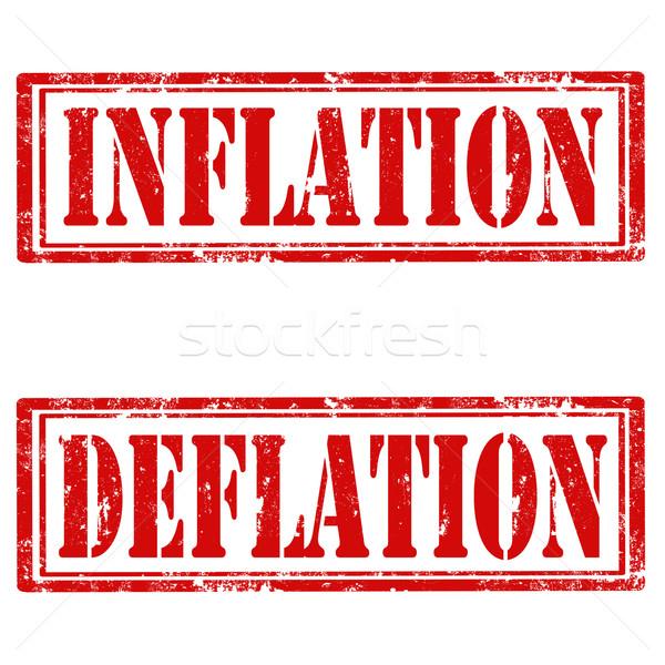 Set Briefmarken Grunge Gummi Text Inflation Stock foto © carmen2011