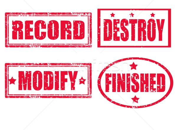 Record stamp Stock photo © carmen2011
