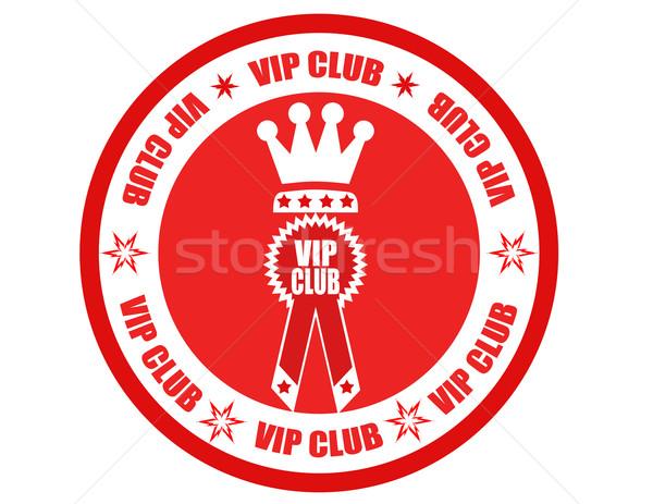 Vip etiqueta texto clube festa teia Foto stock © carmen2011