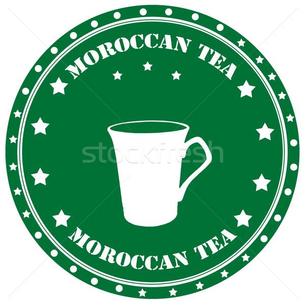 Moroccan Tea-label Stock photo © carmen2011