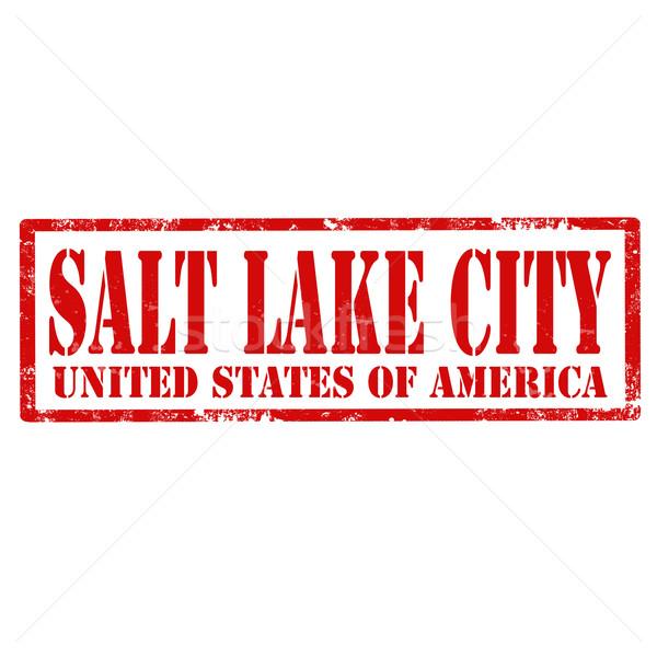 Salt Lake City-stamp Stock photo © carmen2011