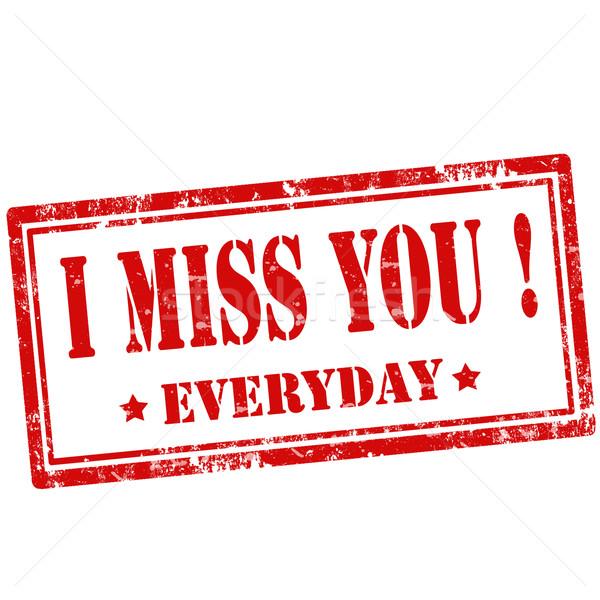 I miss You!-stamp Stock photo © carmen2011