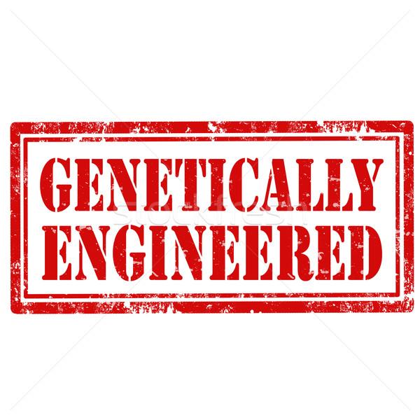 Genetically Engineered-stamp Stock photo © carmen2011