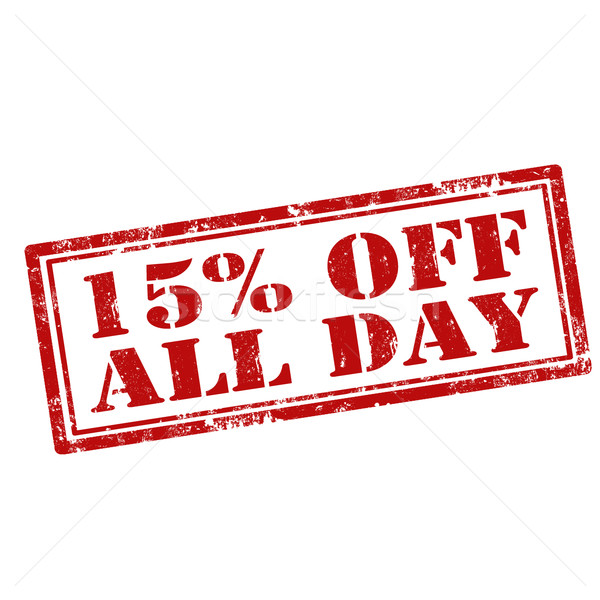 15% Off All Day Stock photo © carmen2011