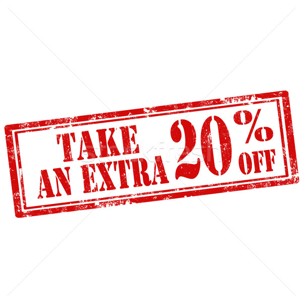 Stock photo: Take An Extra 20% Off-stamp