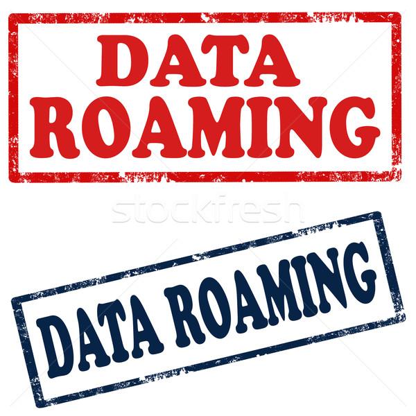Dados conjunto selos texto tecnologia assinar Foto stock © carmen2011