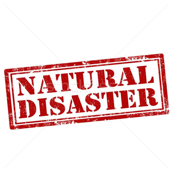 Natural Disaster-stamp Stock photo © carmen2011