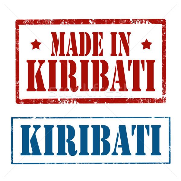 Сток-фото: набор · марок · Гранж · резиновые · текста · Кирибати