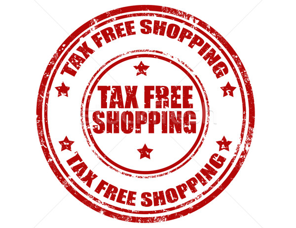 Tax Free Shopping-stamp Stock photo © carmen2011