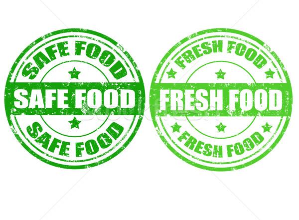 Ingesteld groene postzegels grunge rubber tekst Stockfoto © carmen2011