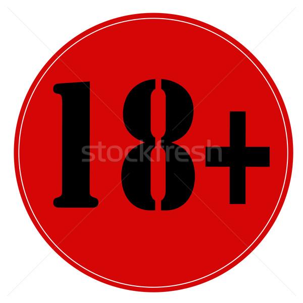 18 edad signo rojo sello texto Foto stock © carmen2011