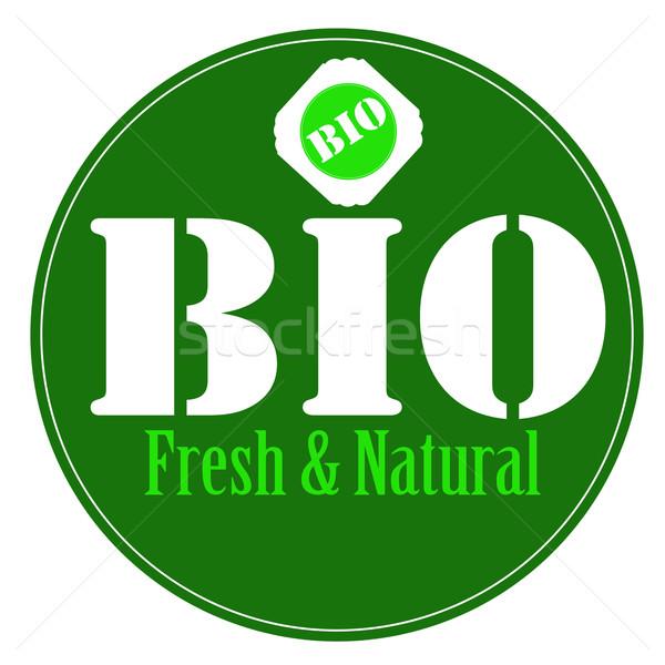 Verde carimbo texto comida saúde cuidar Foto stock © carmen2011