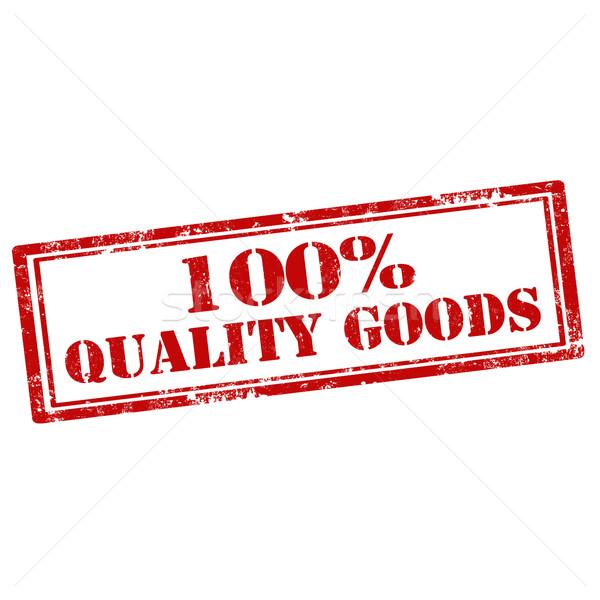 100 qualidade bens grunge texto Foto stock © carmen2011