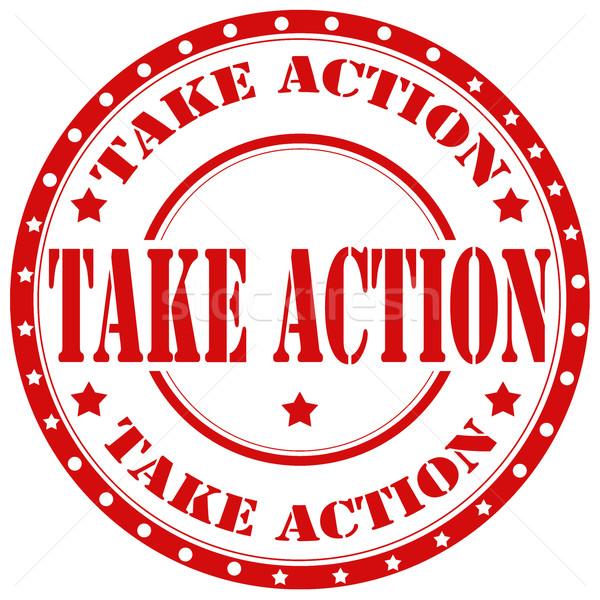 Stock photo: Take Action-stamp