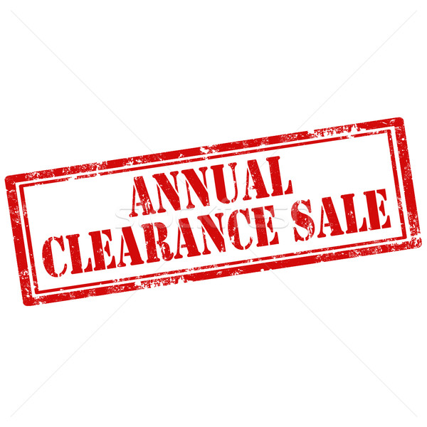 Annual Clearance Sale-stamp Stock photo © carmen2011