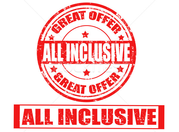 All inclusive stamp Stock photo © carmen2011