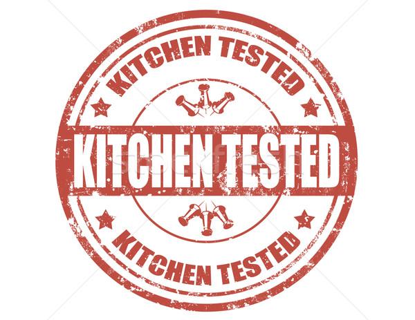 Kitchen tested-stamp Stock photo © carmen2011