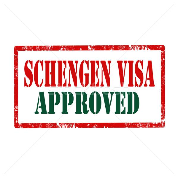 Visa grunge texte bureau signe Photo stock © carmen2011