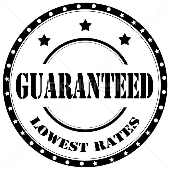 Fekete bélyeg szöveg garantált üzlet kiskereskedelem Stock fotó © carmen2011