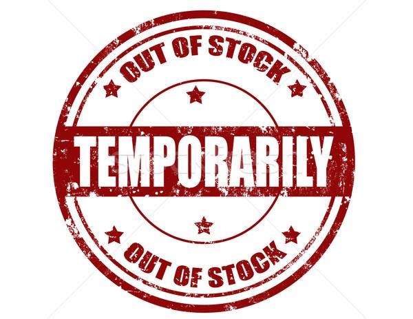 Temporarily-stamp Stock photo © carmen2011