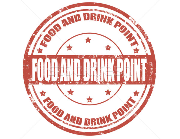 Food and drink point stamp Stock photo © carmen2011