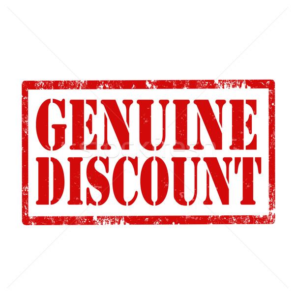 Genuine Discount-stamp Stock photo © carmen2011