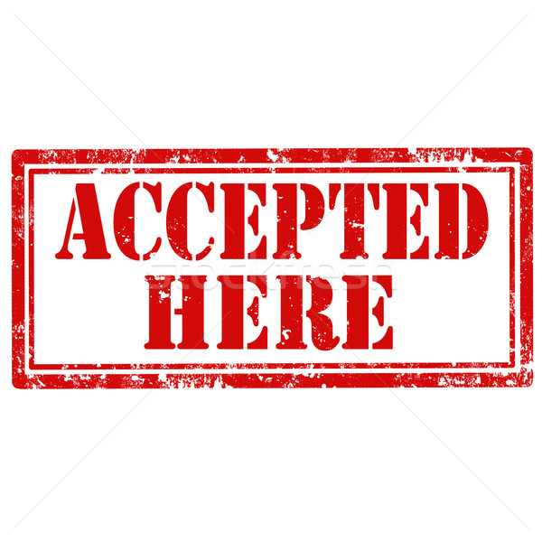 Accepted Here-stamp Stock photo © carmen2011