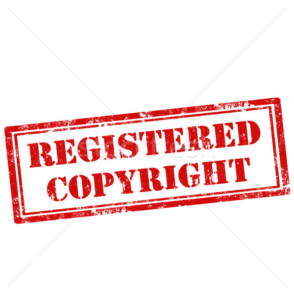 Registered Copyright-stamp Stock photo © carmen2011