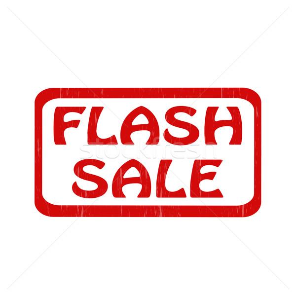 Flash verkoop grunge tekst Rood Stockfoto © carmen2011