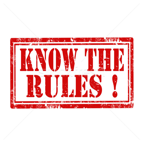 Know The Rules-stamp Stock photo © carmen2011