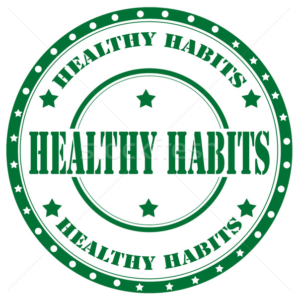 Healthy Habits-stamp Stock photo © carmen2011