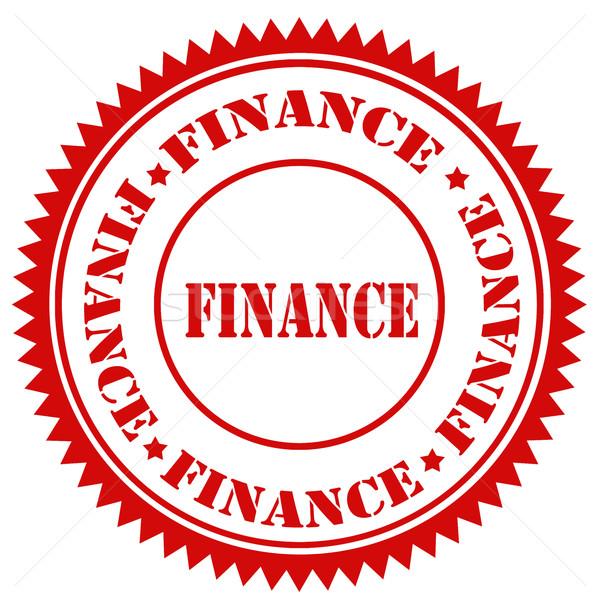 Financiar rojo texto signo sello Foto stock © carmen2011