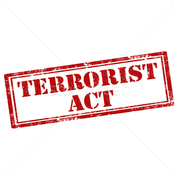Terrorista grunge testo rosso concetto Foto d'archivio © carmen2011
