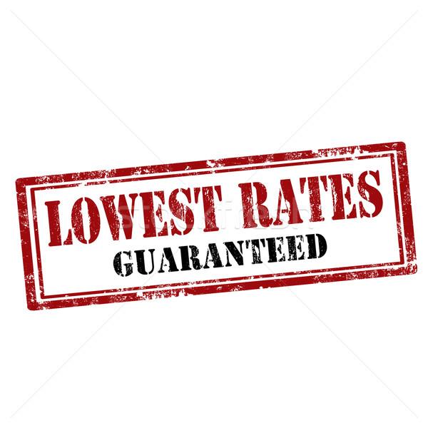 Lovest Rates-stamp Stock photo © carmen2011