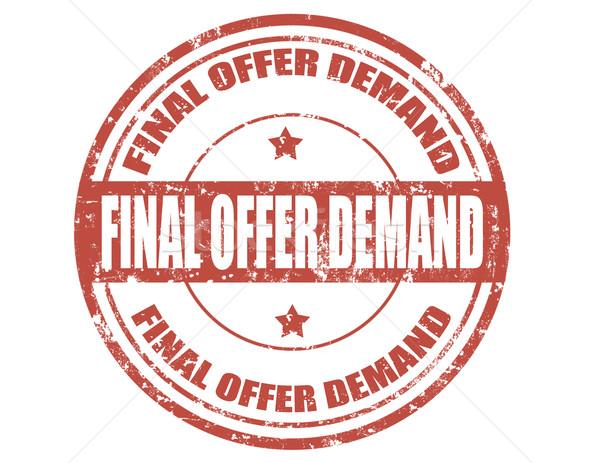 Finale bieten Nachfrage Grunge Text Stock foto © carmen2011