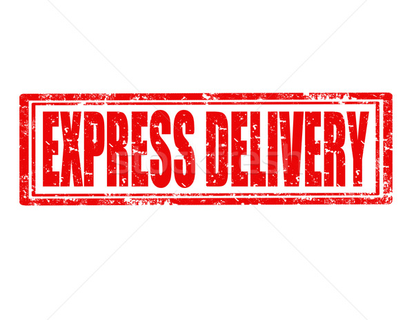 Express delivery-stamp Stock photo © carmen2011